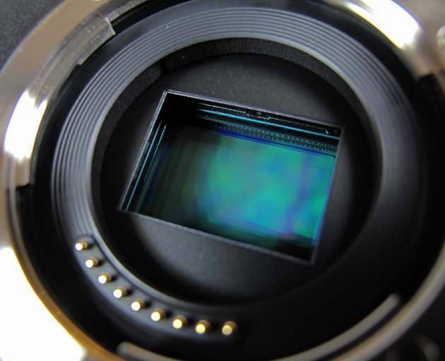 Image of a sensor ready to be cleaned